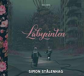 Framsidan på Simon Stålenhags bok Labyrinten